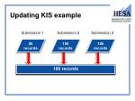 updating kis example