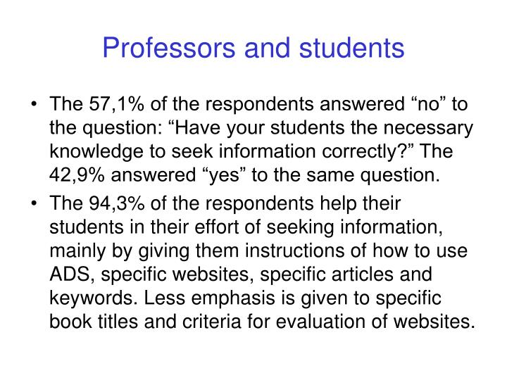 Professors and students