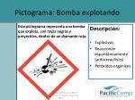pictograma bomba explotando