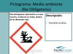 pictograma medio ambiente no obligatorio