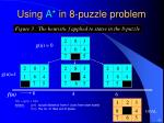 using a in 8 puzzle problem2