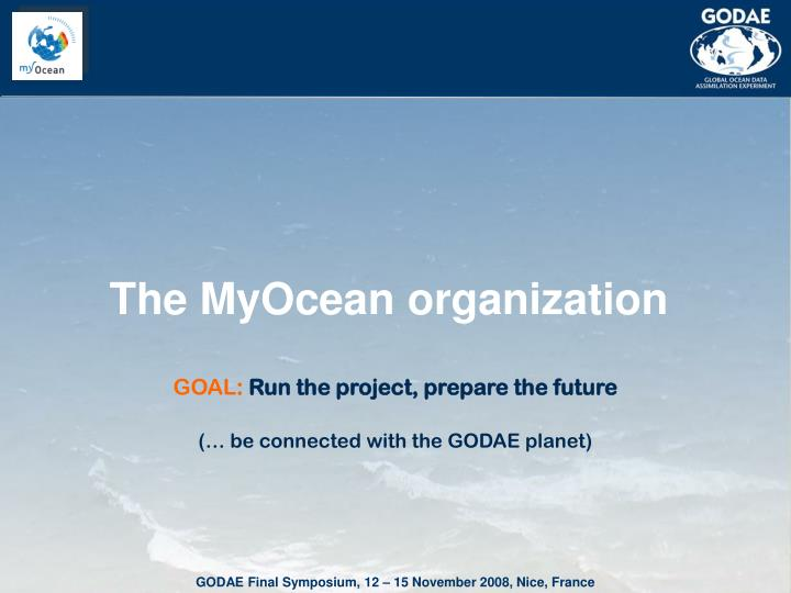The MyOcean organization