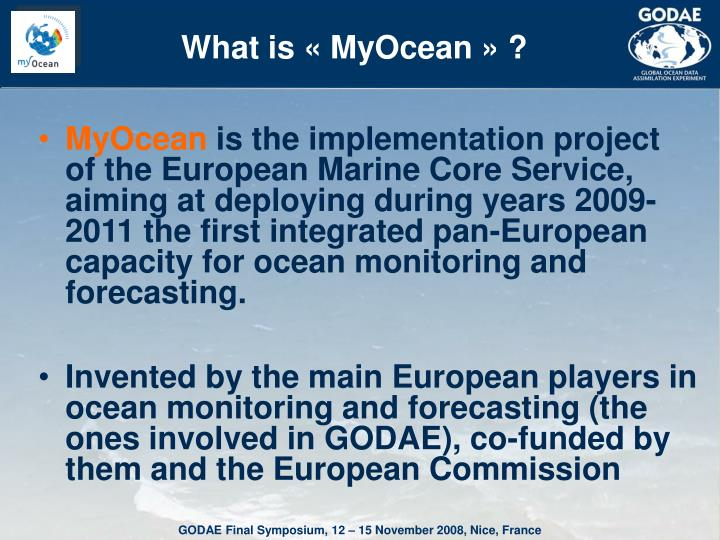 What is « MyOcean » ?