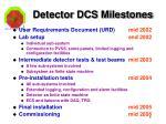 detector dcs milestones1