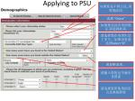 applying to psu11