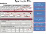 applying to psu19