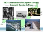 dbj s contribution to the japanese economy constantly revising its focus