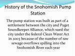 history of the snohomish pump station