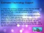 estimated technology support
