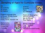 sampling of apps for curricular areas