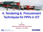 4 tendering procurement techniques for ppps in ict