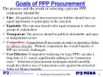 goals of ppp procurement
