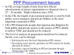 ppp procurement issues