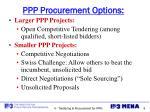 ppp procurement options
