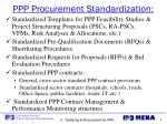 ppp procurement standardization