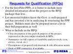 requests for qualification rfqs