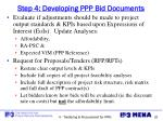 step 4 developing ppp bid documents