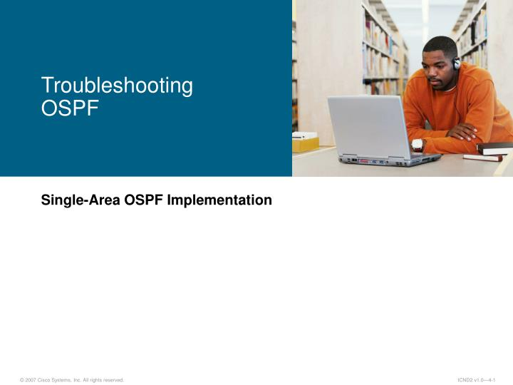 troubleshooting ospf n.