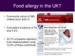 food allergy in the uk