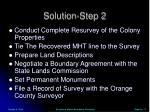 solution step 2