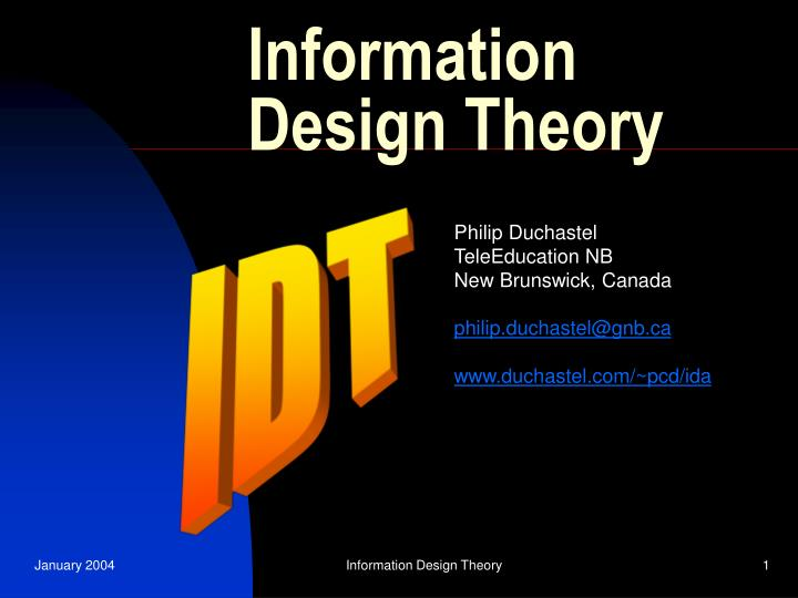 information design theory n.
