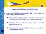 phase 2 civil society activities