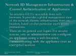network id management infrastructure control authentication of appliances