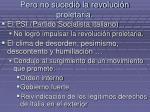 pero no sucedi la revoluci n proletaria