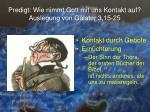 predigt wie nimmt gott mit uns kontakt auf auslegung von galater 3 15 251
