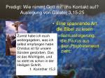 predigt wie nimmt gott mit uns kontakt auf auslegung von galater 3 15 2513