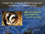 predigt wie nimmt gott mit uns kontakt auf auslegung von galater 3 15 2518