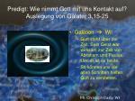 predigt wie nimmt gott mit uns kontakt auf auslegung von galater 3 15 2519