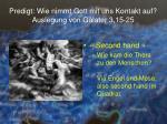 predigt wie nimmt gott mit uns kontakt auf auslegung von galater 3 15 254