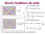 electric oscillators the math1