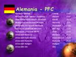 alemania pfc