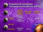 programas de intercambio internacional ofrecidos por la etsit
