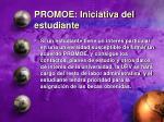 promoe iniciativa del estudiante
