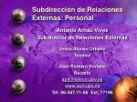 subdirecci n de relaciones externas personal