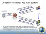 compliance auditing pay audit system