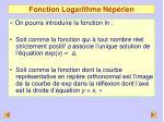fonction logarithme n p rien