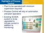 highlights of process control