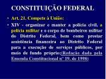 constitui o federal