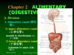 chapter 2 alimentary digestive system