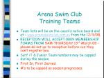 arena swim club training teams
