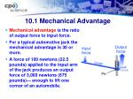 10 1 mechanical advantage