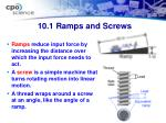 10 1 ramps and screws