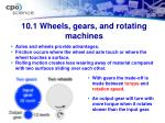 10 1 wheels gears and rotating machines