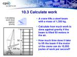 10 3 calculate work