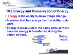 10 3 energy and conservation of energy