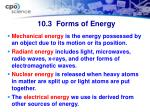 10 3 forms of energy